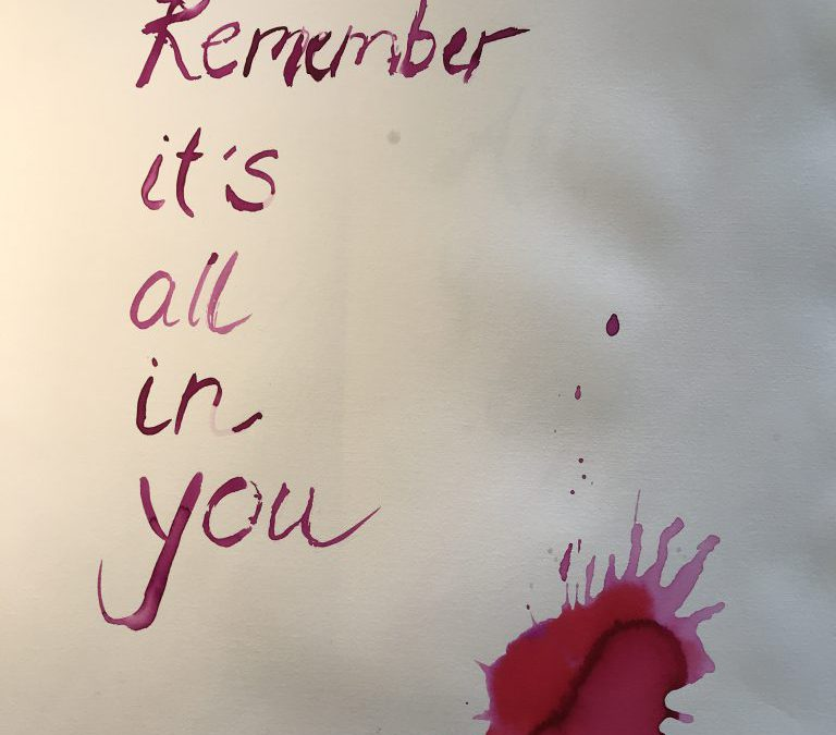 REMEMBER IT IS ALL IN YOU!